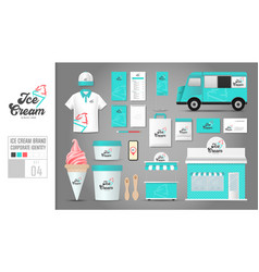 corporate identity template set 4 logo concept vector image