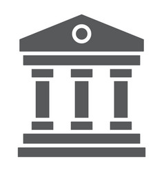 court house glyph icon institution and vector image