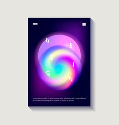 Creative cover or poster design template vector