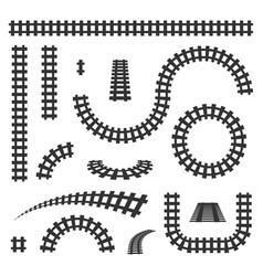 Creative of curved railroad vector