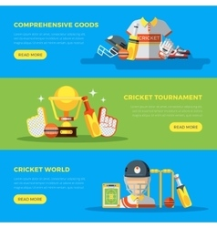 Cricket world banners vector