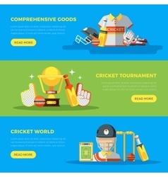 Cricket World Banners vector