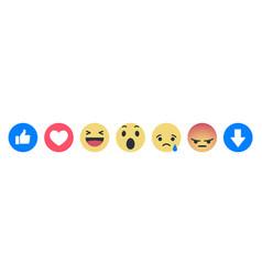 December 04 2018 set facebook empathetic emoji vector