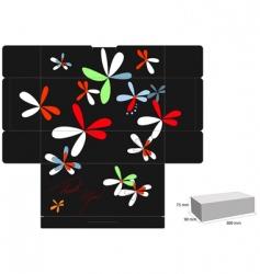 decorative box template vector image
