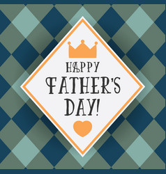 Design greeting card for fathers day vector