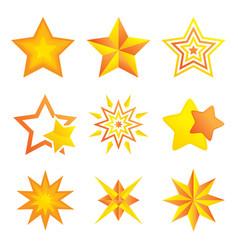 Different stars design vector