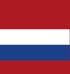 dutch flag flat layout vector image