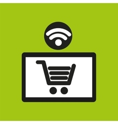 E-commerce online wifi icon vector