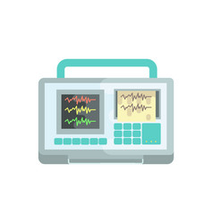 ecg machine medical equipment vector image
