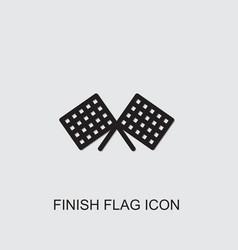 Finish flag icon vector