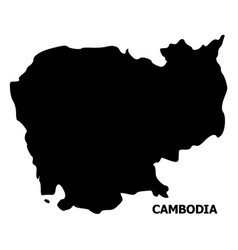 Flat map cambodia with caption vector