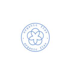 flax logo vector image
