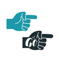 forefinger symbol or icon index finger go vector image