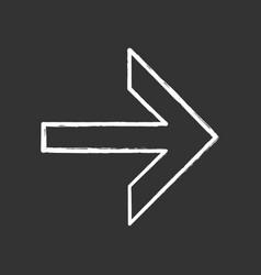 Forward arrow chalk icon next right arrow vector