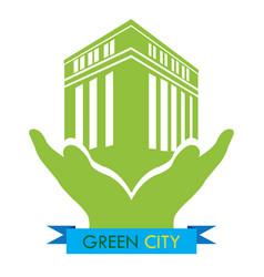 green city vector image