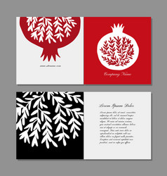 Greeting cards design pomegranate background vector