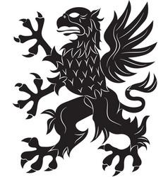 Griffin heraldry symbol vector