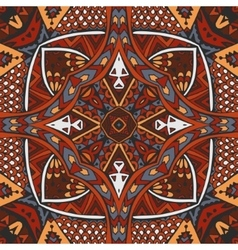 Intricate seamless ethnic tribal pattern vector