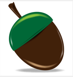 isolated cartoon nut vector image