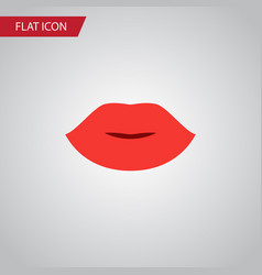 Isolated lipstick flat icon lips element vector