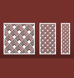 laser cut panels set for wood or metal decor vector image