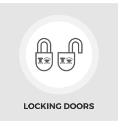 Locking doors flat icon vector image