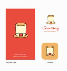magician hat company logo app icon and splash vector image