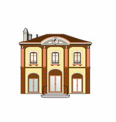 Mansion with medallion vector