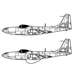 mcdonnell fh-1 phantom vector image