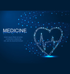 Medicine heart with a whirlwind abstract vector