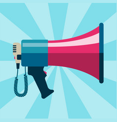 megaphone bullhorn communication message loud vector image