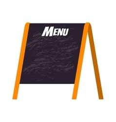 Menu board vector image