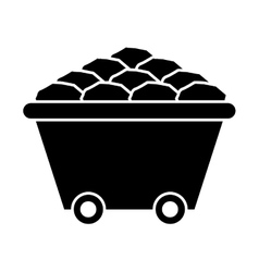 Mining cart isolated icon design vector