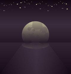 Moonlight background vector image