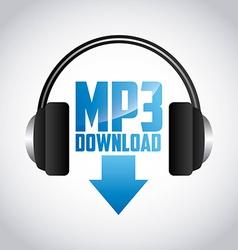 Mp3 download vector