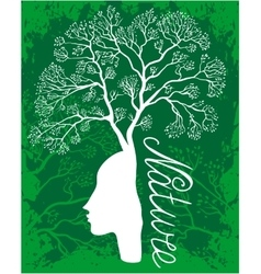 Nature woman tree vector