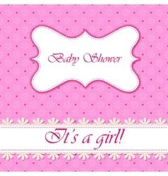 Polka dot flowers baby shower girl vector