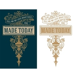 Premium Quality insignia Baroque ornaments and vector