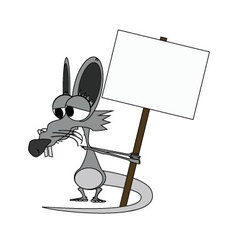Rat cartoon vector