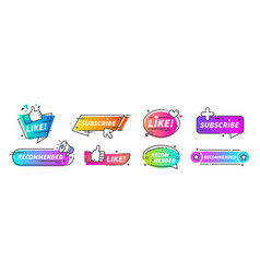 recommend banner thumb up tags with with like and vector image