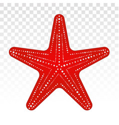 Red starfish sea stars flat icon for apps vector