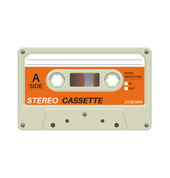Retro cassette audio equipment for analog music vector