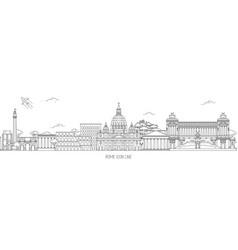 rome thin line skyline vector image