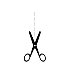 Scissor icon that cuts vector
