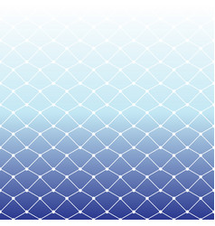 Seamless fishing net pattern on white and blue vector