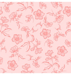 Seamless summer floral pattern vector image vector image