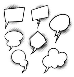 set empty pop art comic style speech bubbles vector image