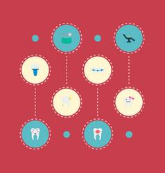 Set of enamel icons flat style symbols with vector