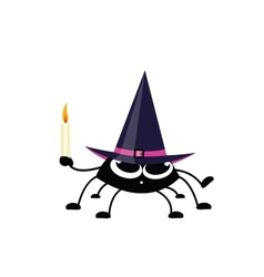 spider on the halloween vector image