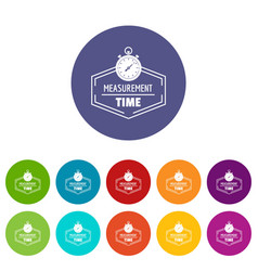 timer icons set color vector image